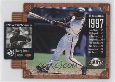 1998 Upper Deck UD3 - [Base] - Die-Cut #145 - Barry Bonds /1000
