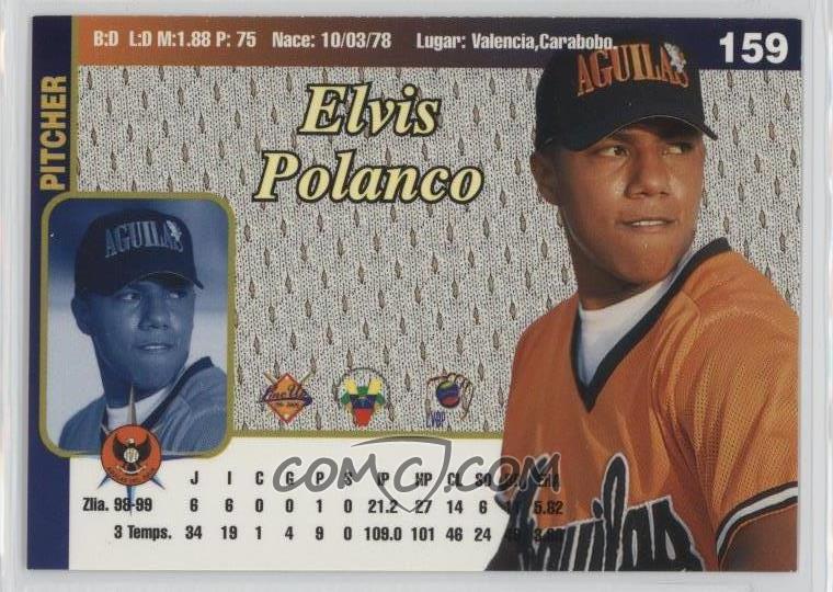 1999 00 Line Up Venezuelan Winter League Base 159 Elvis Polanco