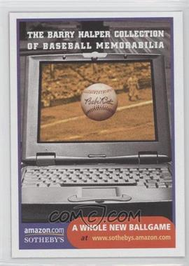 1999 Barry Halper Collection of Baseball Memorabilia Sotheby's - [Base] #14 - Internet Auction- A Whole New Ballgame