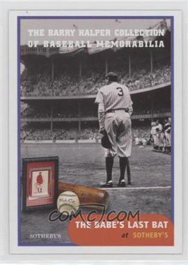 1999 Barry Halper Collection of Baseball Memorabilia Sotheby's - [Base] #2 - Babe Ruth