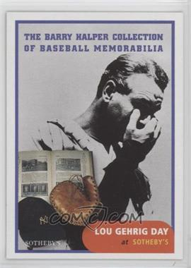 1999 Barry Halper Collection of Baseball Memorabilia Sotheby's - [Base] #3 - Lou Gehrig