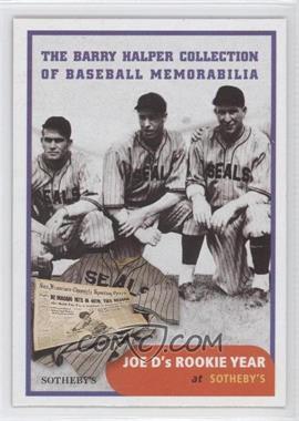 1999 Barry Halper Collection of Baseball Memorabilia Sotheby's - [Base] #4 - Joe DiMaggio
