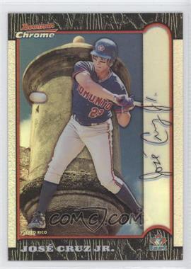 1999 Bowman Chrome - [Base] - International Refractors #18 - Jose Cruz Jr. /100