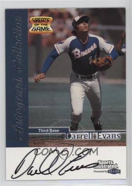 1999 Fleer Sports Illustrated Greats of the Game - Autographs #DAEV - Darrell Evans