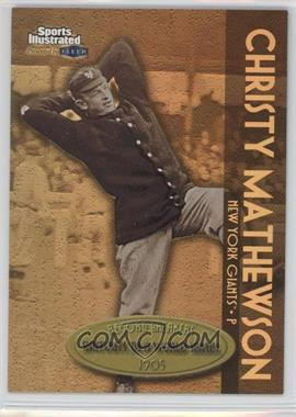 1999 Fleer Sports Illustrated Greats of the Game - Record Breakers - Gold #4 RB - Christy Mathewson