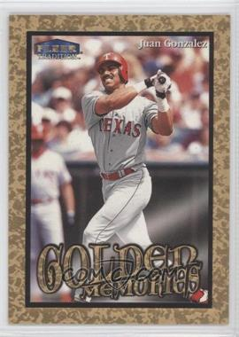 1999 Fleer Tradition - Golden Memories #5GM - Juan Gonzalez