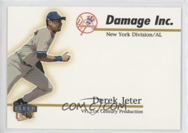 1999 Fleer Ultra - Damage Inc. #5 DI - Derek Jeter