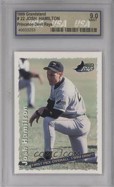 1999 Grandstand Princeton Devil Rays Josh Hamilton - [Base] #NoN - Josh Hamilton (#1 Overall Pick)