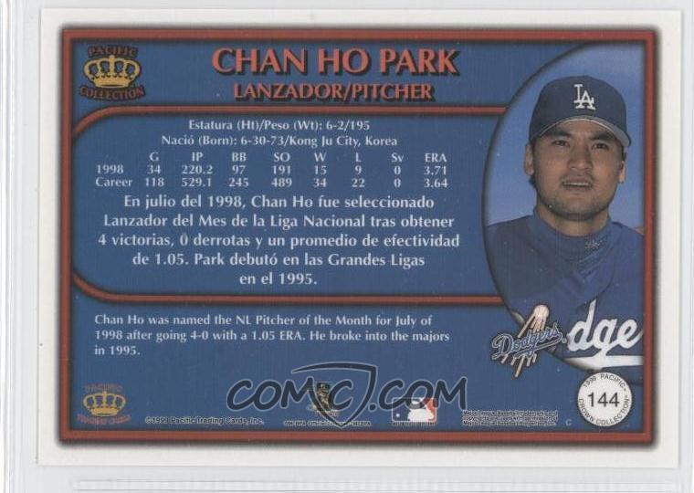 1999 Pacific Crown Collection - [Base] - Red #144 - Chan Ho Park