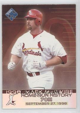 1999 Pacific Private Stock - Home Run History #15 - Mark McGwire