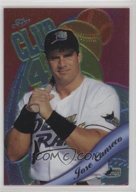 1999 Topps Chrome - All-Etch #AE7 - Jose Canseco