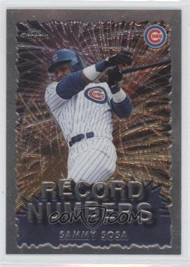 1999 Topps Chrome - Record Numbers #RN5 - Sammy Sosa