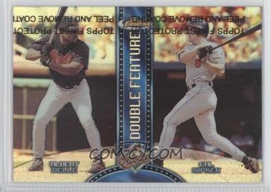 1999 Topps Finest - Double Feature - Refractor Both Right & Left #DF6 - Albert Belle, Cal Ripken Jr.