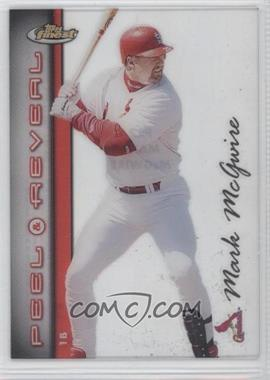 1999 Topps Finest - Peel & Reveal Sparkle - Hyperplaid #PR2 - Mark McGwire
