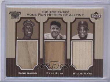 1999 Upper Deck - Piece of History 500 Club #NNU - Babe Ruth, Hank Aaron, Willie Mays