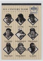 All Century Team (Babe Ruth, Ty Cobb, Willie Mays, Lou Gehrig, Jackie Robinson,…