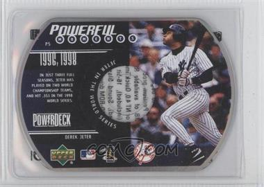 1999 Upper Deck Powerdeck - Powerful Moments - CD-ROM #P5 - Derek Jeter