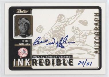 1999 Upper Deck Retro - Inkredible - Level 2 [Autographed] #BW - Bernie Williams /51