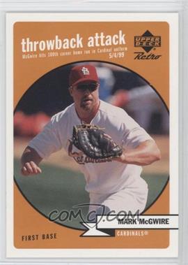 1999 Upper Deck Retro - Throwback Attack #T2 - Mark McGwire