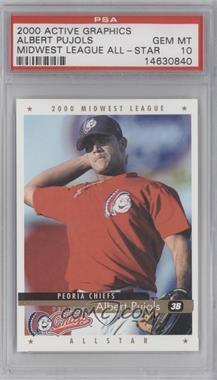 2000 Active Graphics Midwest League All Stars - [Base] #ALPU - Albert Pujols [PSA10GEMMT]