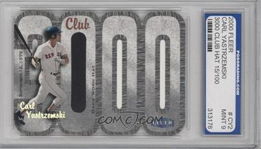 2000 Fleer 3000 Club - Multi-Product Insert [Base] - Memorabilia #CAYA.2 - Carl Yastrzemski (Hat) /100 [ENCASED]