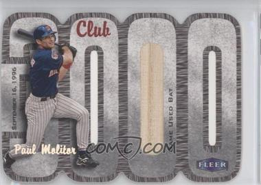 2000 Fleer 3000 Club - Multi-Product Insert [Base] - Memorabilia #PAMO.3 - Paul Molitor (Bat) /335