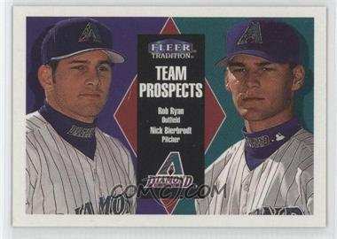 2000 Fleer Tradition - [Base] - Glossy #389 - Rob Ryan, Nick Bierbrodt