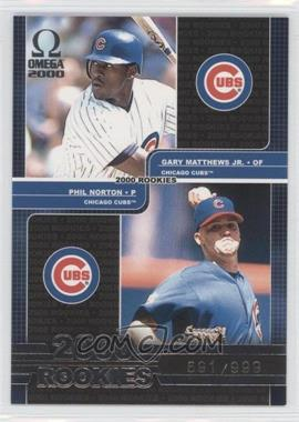 2000 Pacific Omega - [Base] #166 - Phil Norton, Gary Matthews Jr. /999