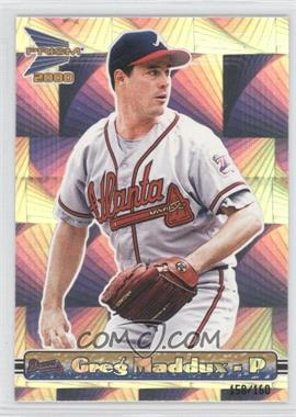 2000 Pacific Prism - [Base] - Holographic Mirror #14 - Greg Maddux /160