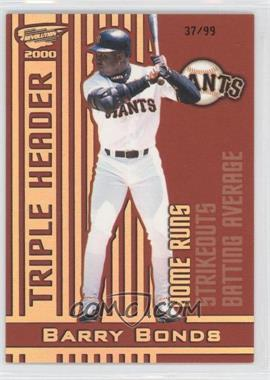 2000 Pacific Revolution - Triple Header - Hologold #17 - Barry Bonds /99