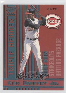 2000 Pacific Revolution - Triple Header - Platinum Blue #12 - Ken Griffey Jr. /199