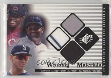 2000 SPx - Winning Materials Update #G-S-R - Sammy Sosa, Alex Rodriguez, Ken Griffey Jr.