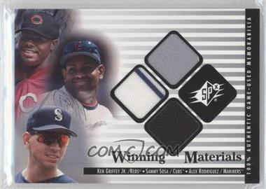 2000 SPx - Winning Materials Update #G-S-R - Sammy Sosa, Alex Rodriguez, Ken Griffey Jr.