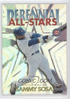 2000 Topps - Perennial All-Stars - Limited Edition #PA3 - Sammy Sosa
