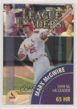 2000 Topps Chrome - [Base] - Refractor #462 - Ken Griffey Jr., Mark McGwire