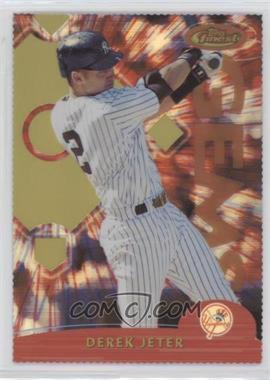 2000 Topps Finest - [Base] - Gold Refractor Die-Cut #136 - Derek Jeter