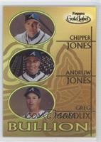 Chipper Jones, Andruw Jones, Greg Maddux