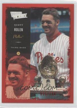 2000 Ultimate Victory - [Base] - Ultimate Collection #79 - Scott Rolen /100