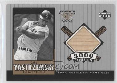 2000 Upper Deck - A Piece of History 3000 Hit Club #CY-B - Carl Yastrzemski