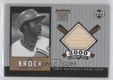2000 Upper Deck - A Piece of History 3000 Hit Club #LB-B - Lou Brock