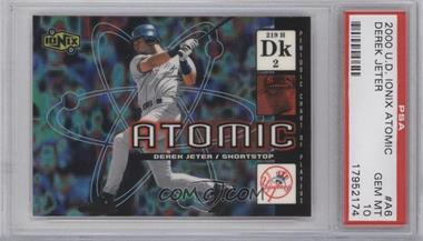 2000 Upper Deck Ionix - Atomic #A6 - Derek Jeter [PSA 10 GEM MT]