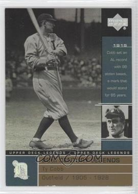 2000 Upper Deck Legends - [Base] - Commemorative Collection #134 - Ty Cobb /100