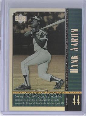 2000 Upper Deck Legends - [Base] - Commemorative Collection #9 - Hank Aaron /100