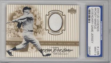 2000 Upper Deck Legends - Legendary Game Jerseys #J-MM - Mickey Mantle [ENCASED]