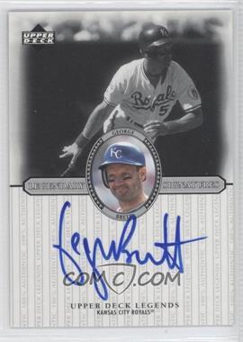2000 Upper Deck Legends - Legendary Signatures #S-GB - George Brett