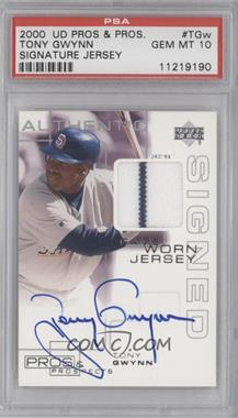 2000 Upper Deck Pros & Prospects - Signed Game Worn Jersey #TGW - Tony Gwynn [PSA 10]