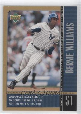 2000 Upper Deck Subway Series - [Base] #NY2 - Bernie Williams