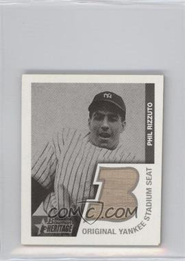2001 Bowman Heritage - 1948 Reprints Relics #BHM-PR - Phil Rizzuto