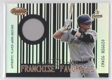 2001 Bowman's Best - Franchise Favorites Relics #FFR-CB - Craig Biggio