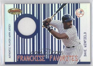 2001 Bowman's Best - Franchise Favorites Relics #FFR-DW - Dave Winfield